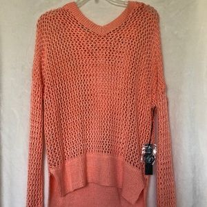 Peach Over Sweater Women's Size Large